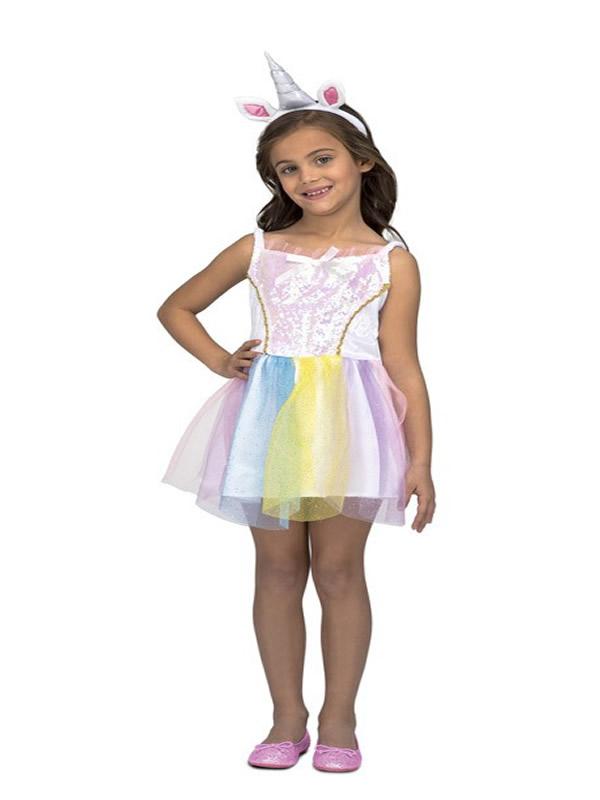 disfraz de unicornio blanco para niña