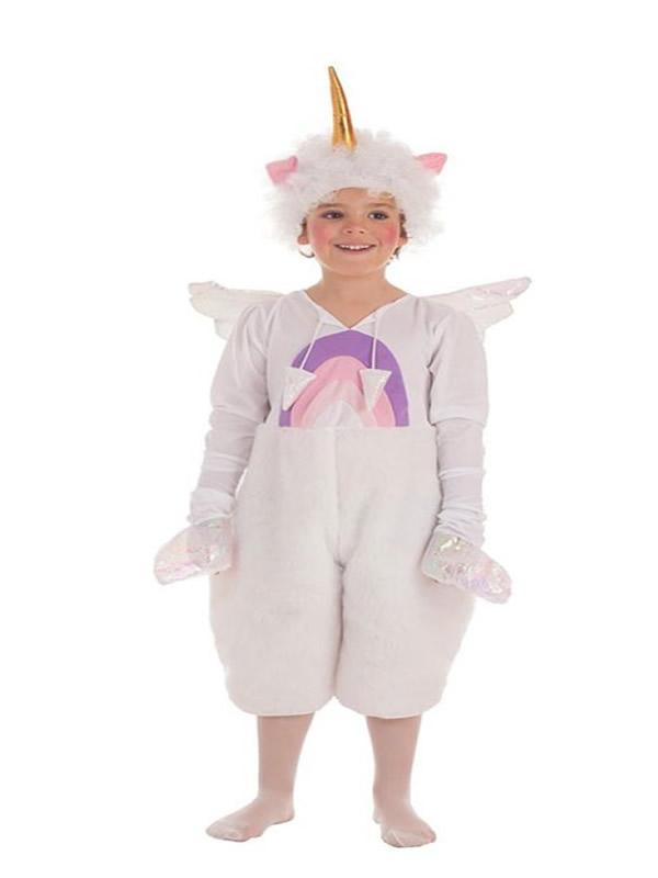 disfraz de unicornio con alas para niño