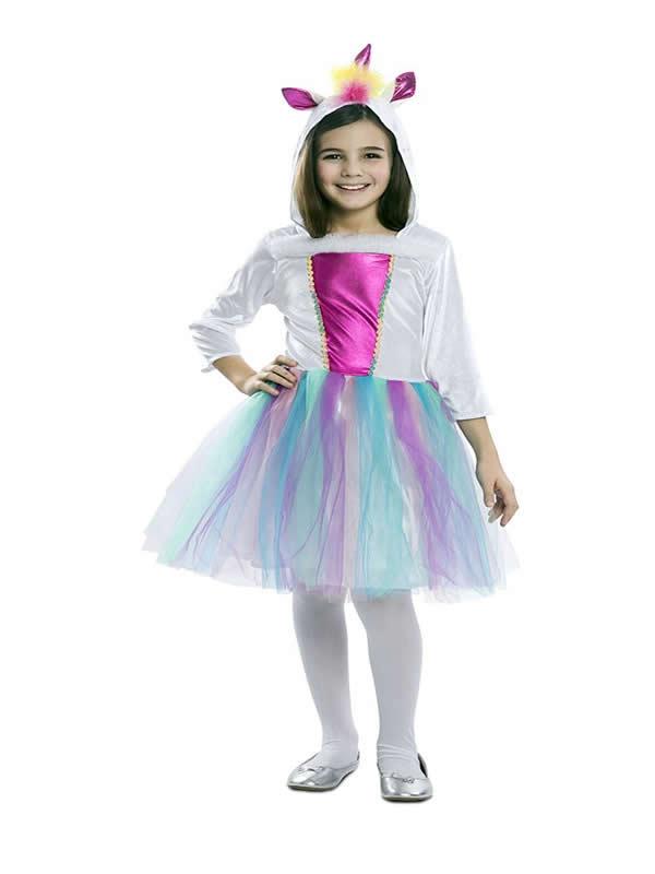 disfraz de unicornio con tul niña