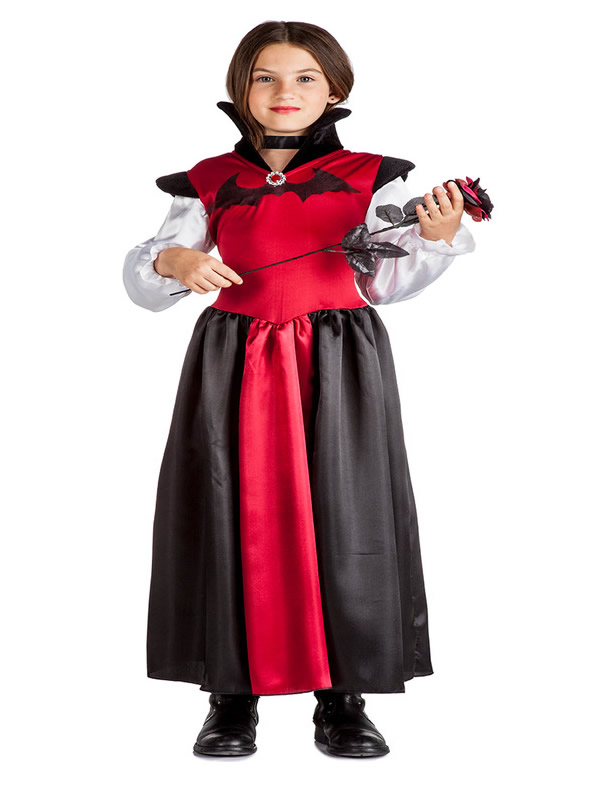 disfraz de vampira murcielago nina K2210 - Los mejores disfraces en grupo infantil