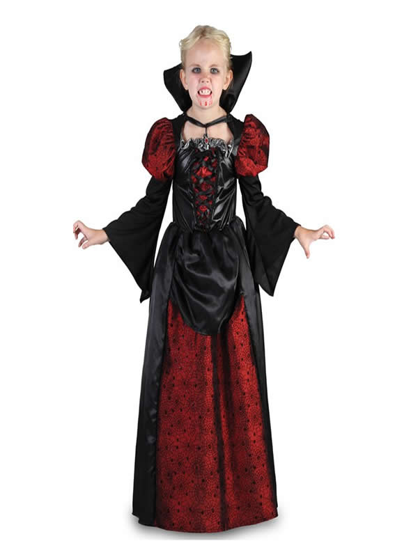 disfraz de vampiresa elegante para niña