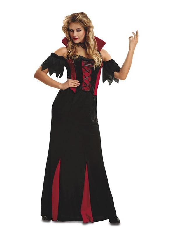disfraz de vampiresa gotica largo mujer