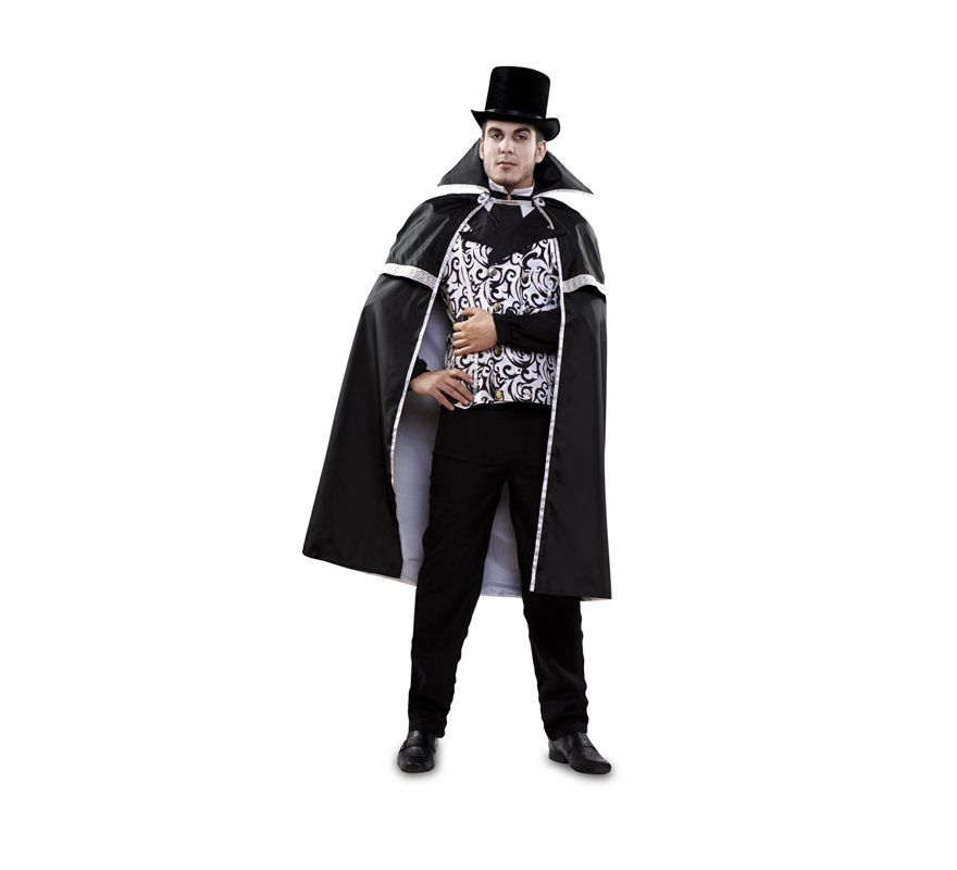 Disfraz De Vampiro Blanco Negro Hombre