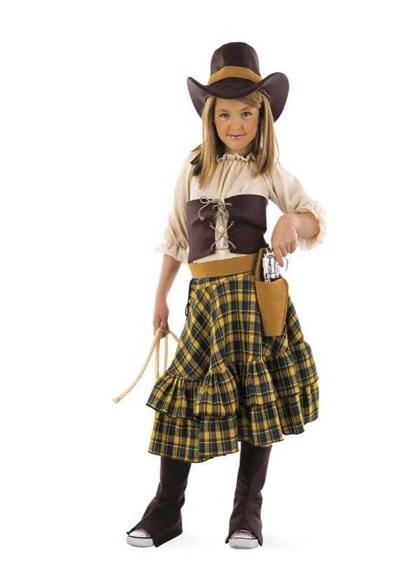 disfraz de vaquera bandida niña