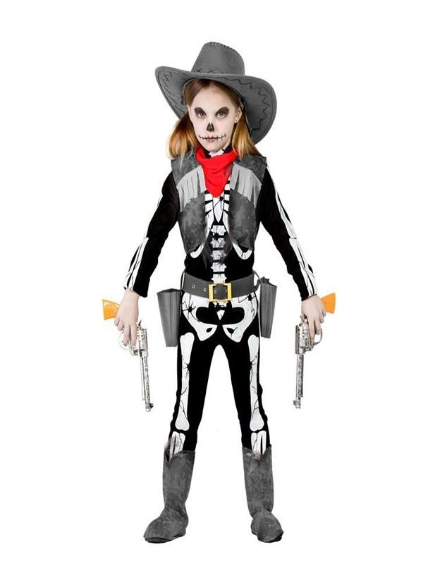 disfraz de vaquera esqueleto niña