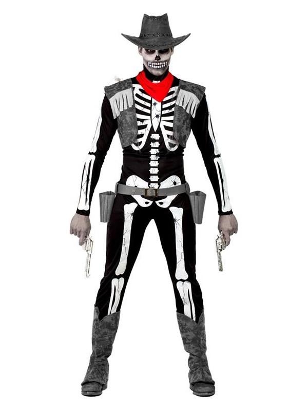 disfraz de vaquero esqueleto hombre