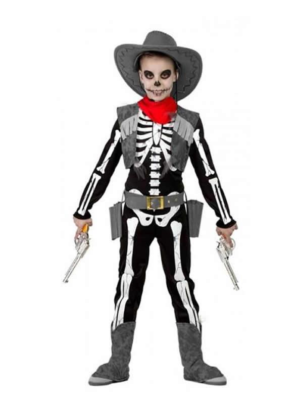 disfraz de vaquero esqueleto niño
