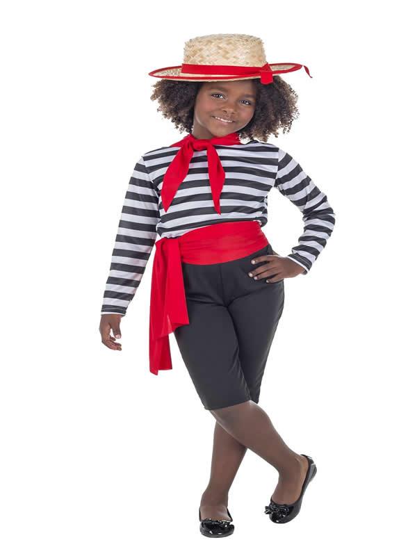 disfraz de veneciana o gondolera para niña