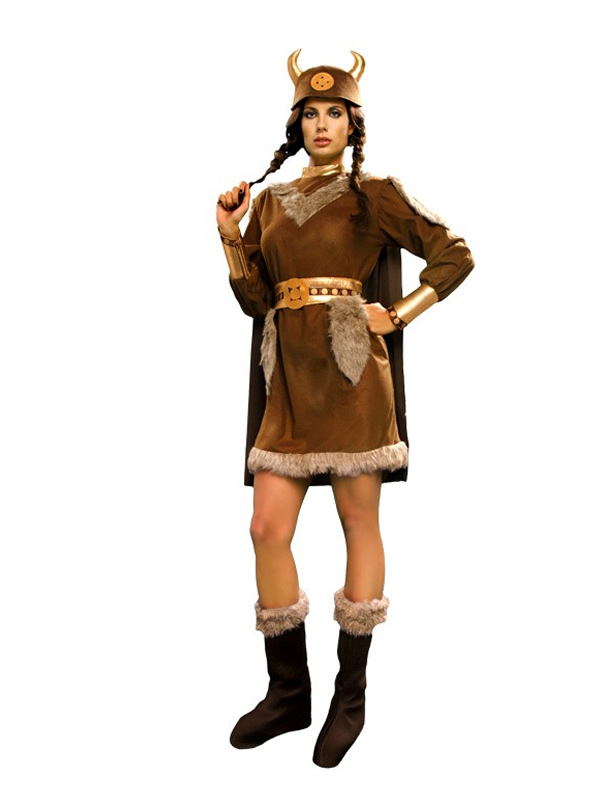 disfraz de vikinga guerrera mujer