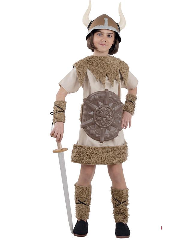disfraz de vikinga guerrera niña