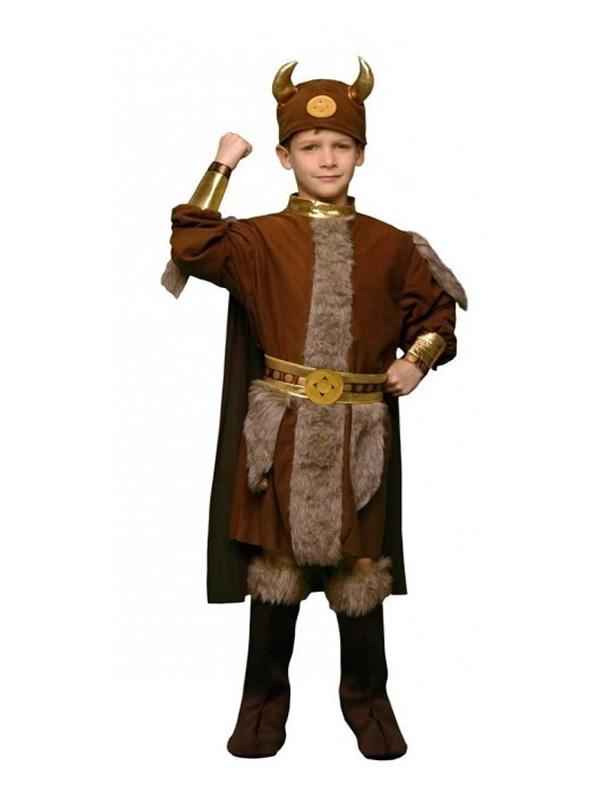 disfraz de vikingo guerrero para niño