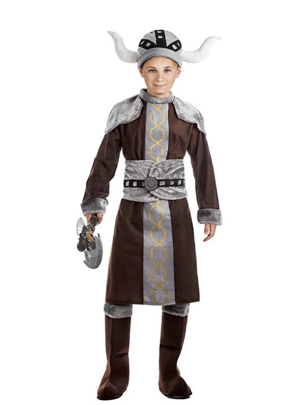 disfraz de vikingo marron para niño