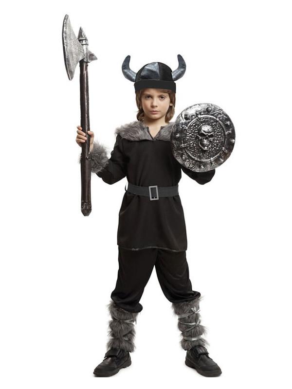 disfraz de vikingo negro para niño
