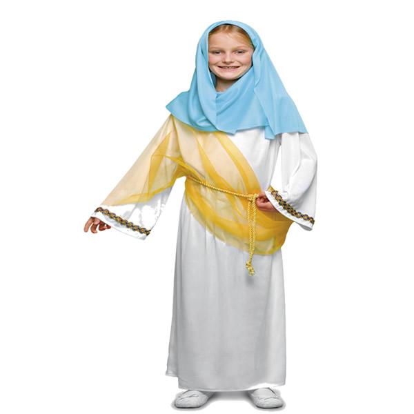 disfraz de virgen maria blanca niña