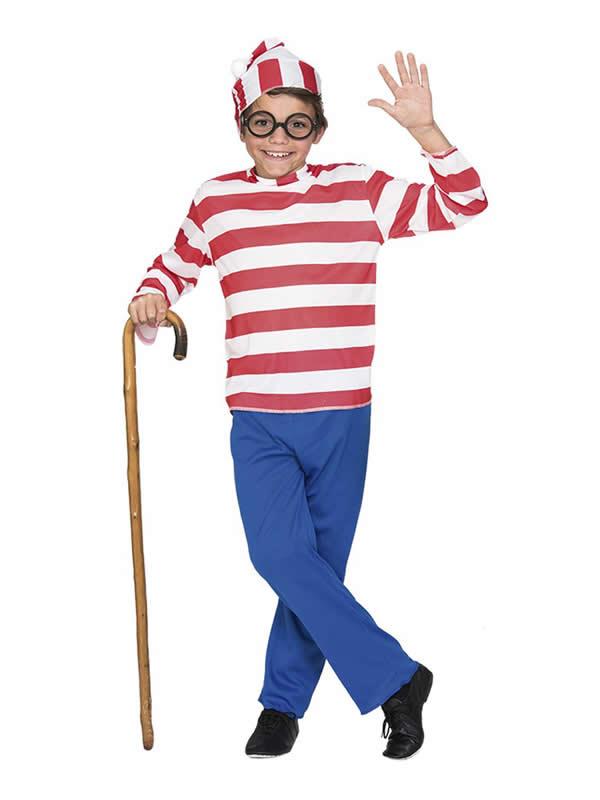 disfraz de wally viajero para niño