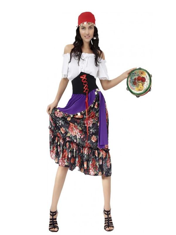 disfraz de zingara elegante mujer