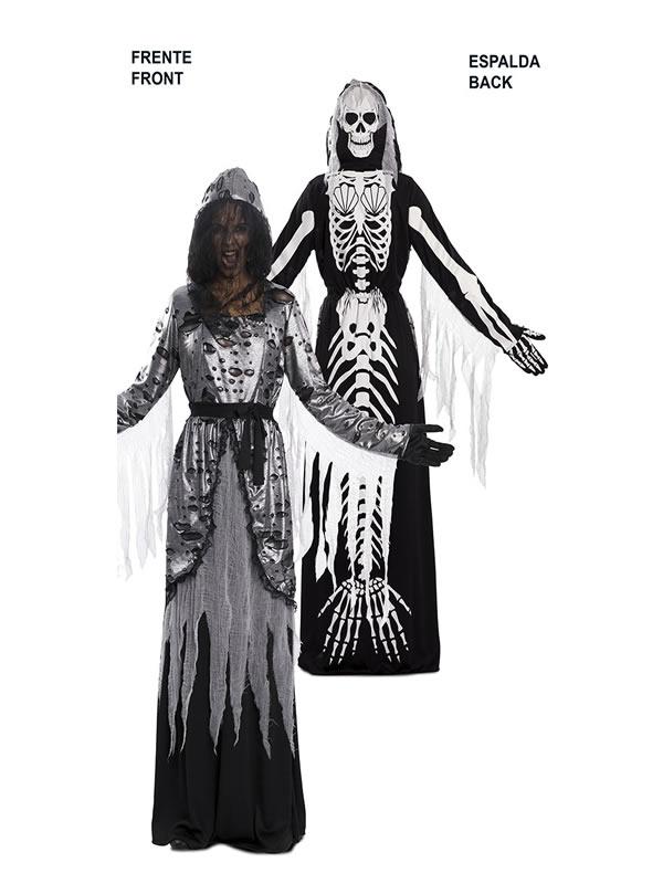 disfraz doble esqueleto y sirena para mujer