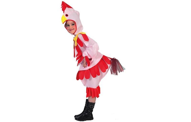 disfraz gallina rosa niña