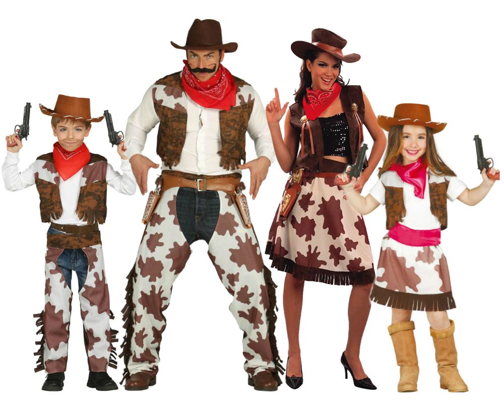 Disfraz grupo y familia de vaqueros del oeste comprar - Disfraces en familia ...