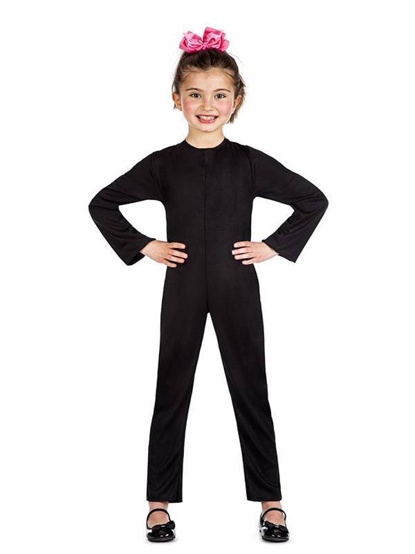 disfraz maillot o mono color negro infantil