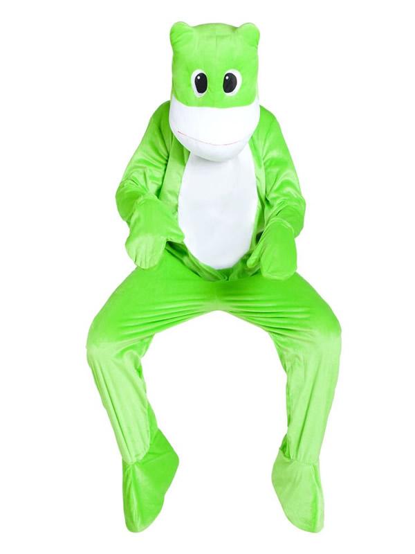 disfraz mascota rana para hombre adulto