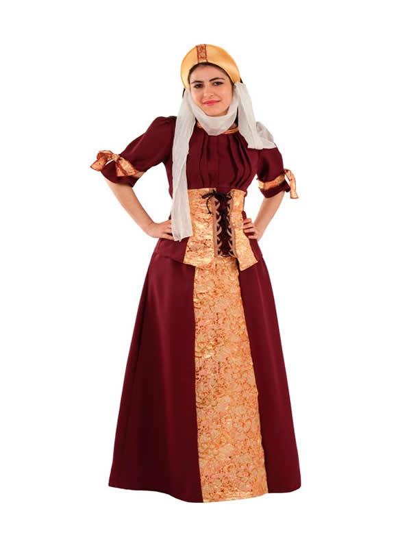 disfraz medieval blanca de navarra mujer