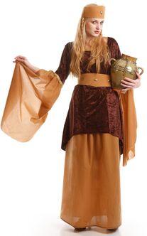disfraz medieval marron mujer adulto