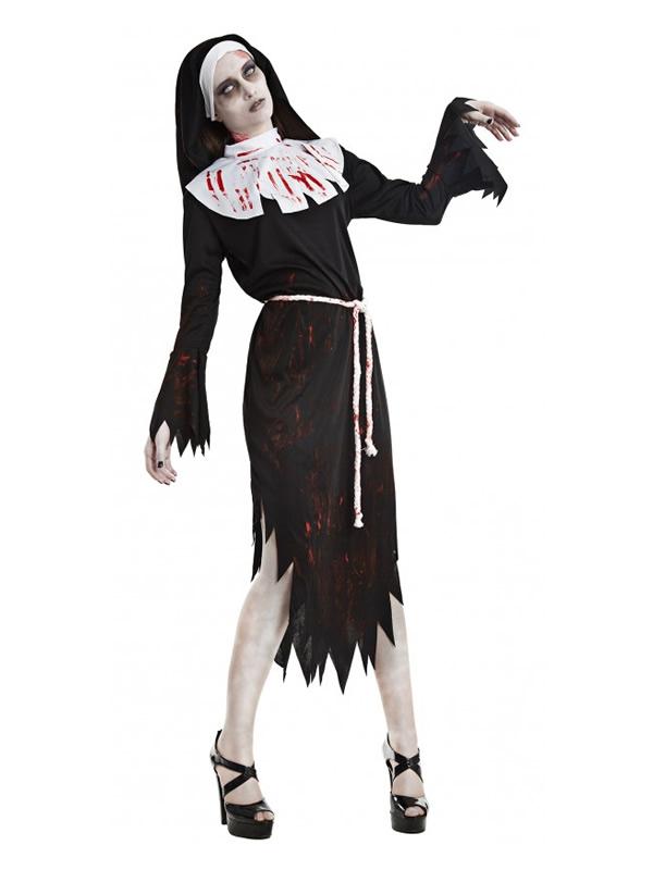 disfraz monja zombie mujer