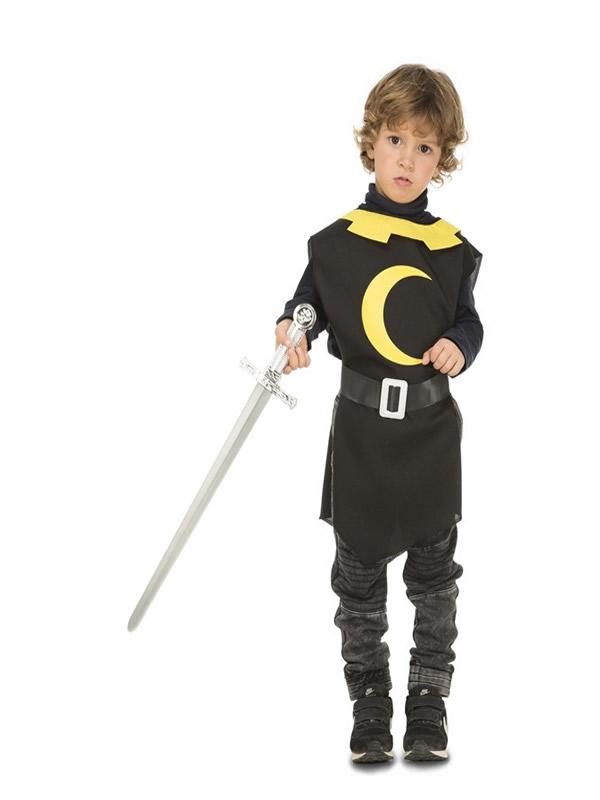 disfraz o peto de guerrero medieval negro niño