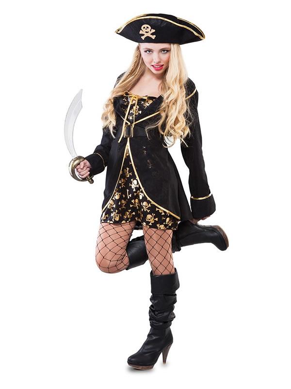 disfraz pirata noche mujer adulto