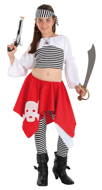 Disfraz pirata rayas ni a comprar barato disfracesmimo - Maquillaje pirata nina ...