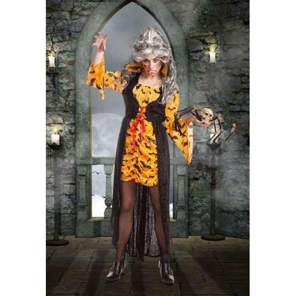 Disfraz Vampiresa Murcielagos Naranja Mujer