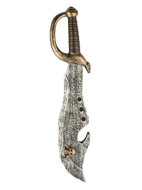 espada de pirata con calavera de 52 cm