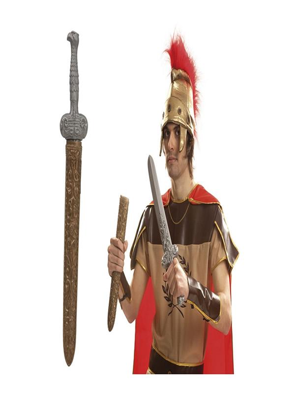 espada de romano con funda de 50 cm