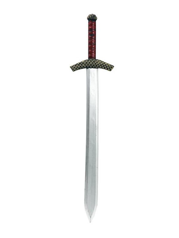 espada medieval plateada de 85 cm