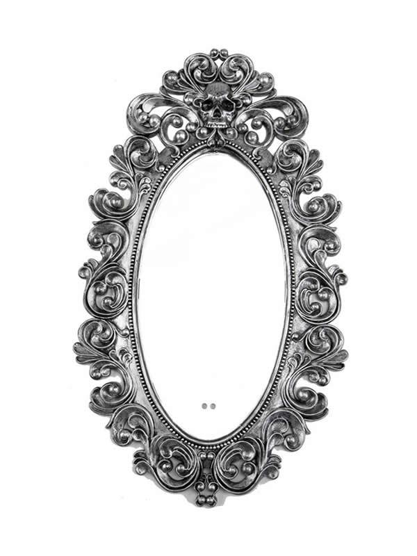 espejo antiguo grande 45x75 cm