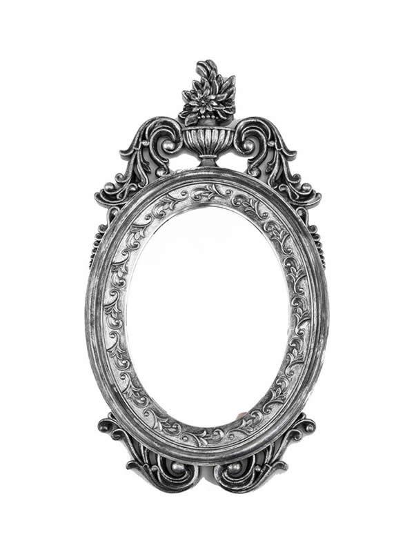 espejo antiguo pequeño 25x47 cm