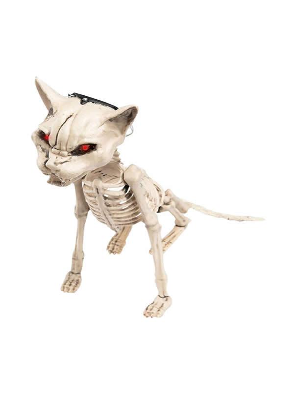 esqueleto de gato con luz 45x16 cm