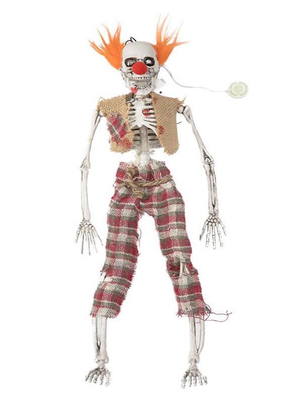 esqueleto de payaso con luz 48x11 cm