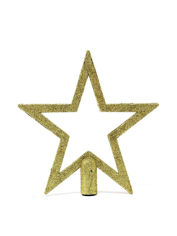 estrella remate para arbol oro 20 cms