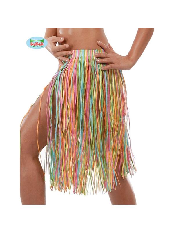 falda hawaiana 45 cms multicolor