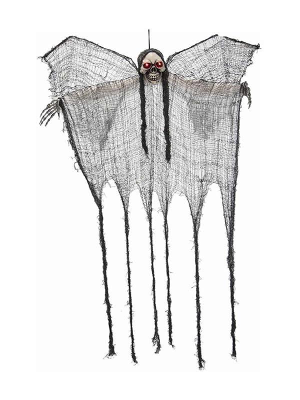fantasma con alas blancas colgante 110x90 cm