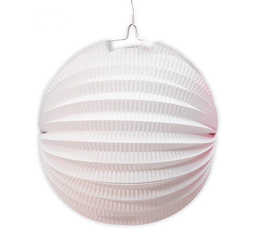 farolillo blanco esferico