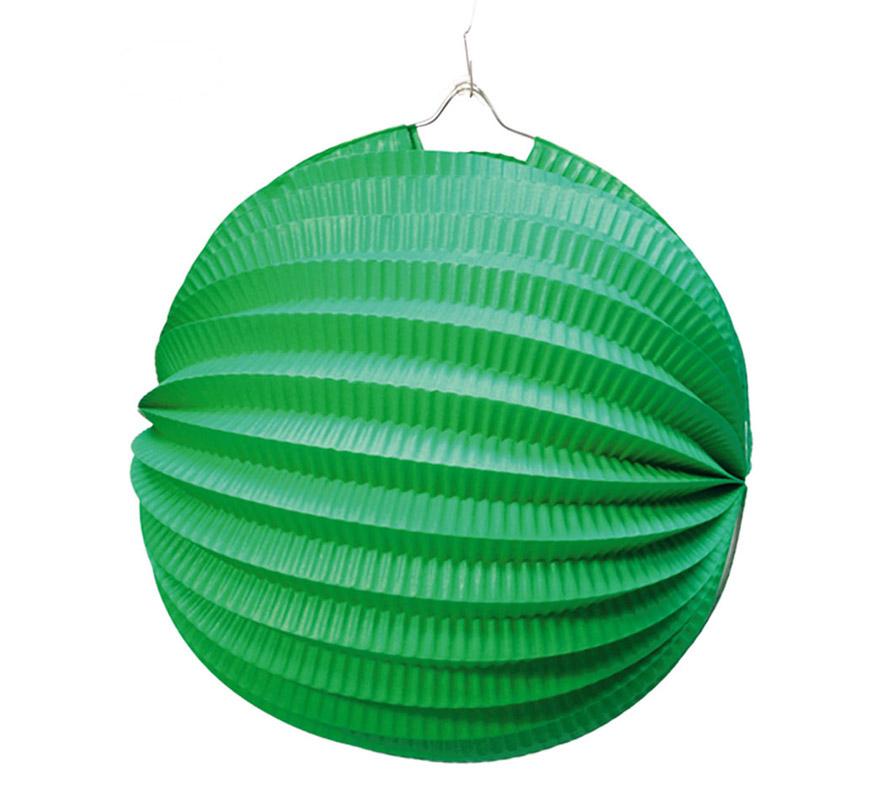 farolillo verde esferico 26 cm