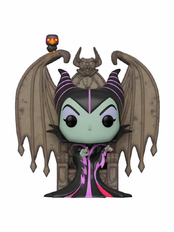 figura funko pop disney villains maleficente with throne