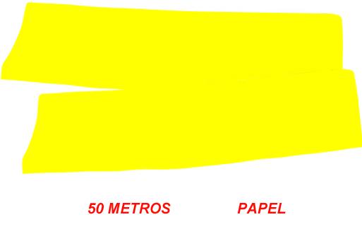 fleco de papel amarillo para fiestas de 50 m