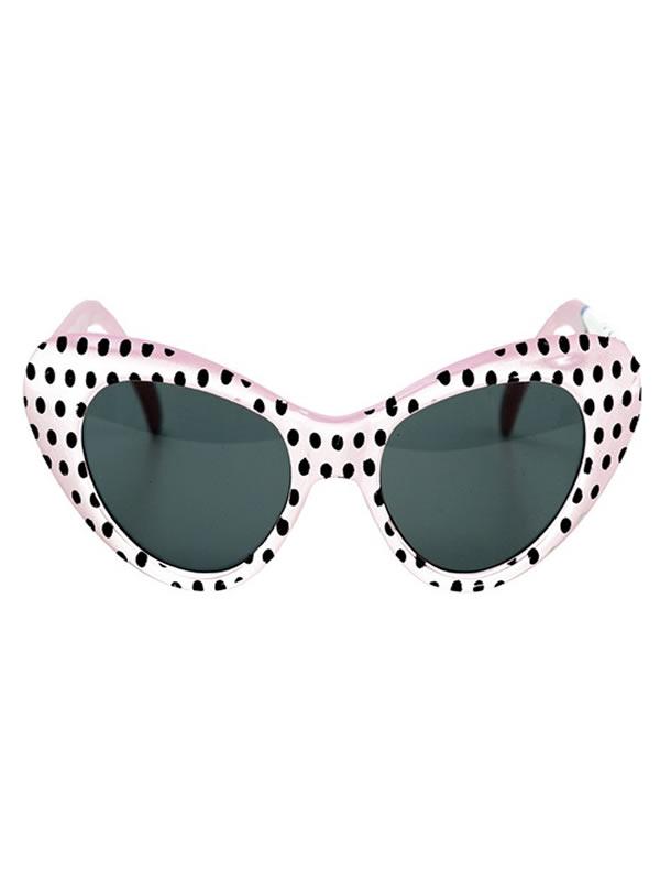 gafas chica de los años 40 o 50 blanca