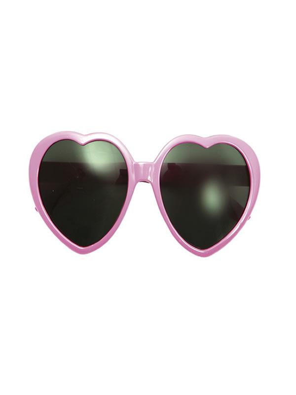 gafas de corazon rosa