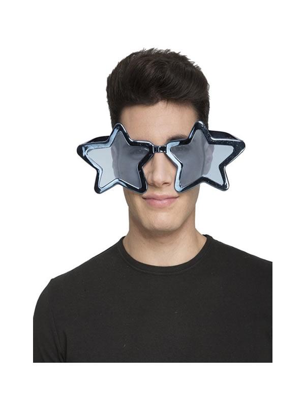 gafas gigantes de estrella azules