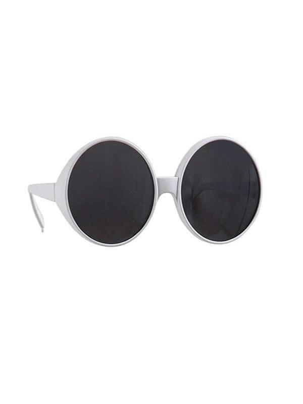 gafas redondas blancas glamour